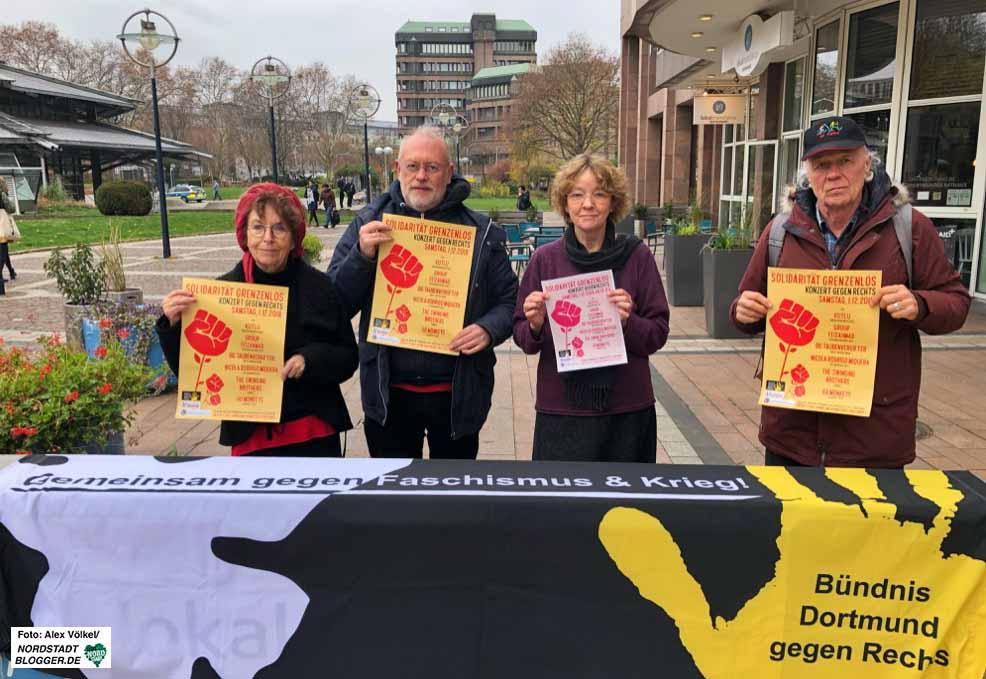 Das Bündnis Dortmund gegen Rechts und die FlüchtlingspatInnen laden zum Konzert ein. Foto: Alex Völkel