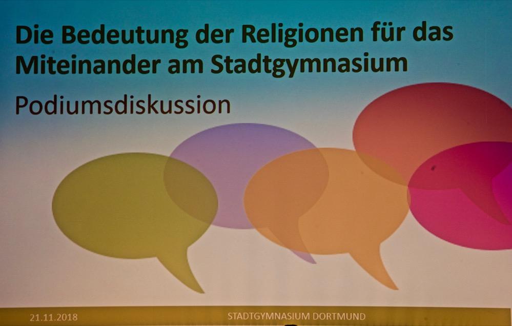 Zusammen Arbeiten und zusammen Leben, die Bedeutung der Religionen für und am Stadtgymnasium Dortmund.
