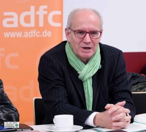 """Thomas Semmelmann, Vorsitzender des ADFC NRW und Mit-Initiator der Volksinitiative """"Aufbruch Fahrrad""""."""