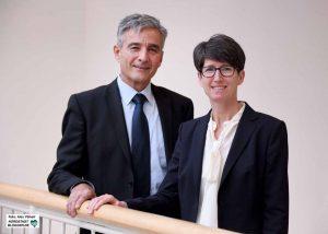 Thomas Böhm und Anja Laubrock vom Amt für Wohnen und Stadterneuerung.