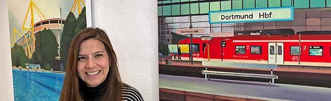 """Ausstellung in """"kunstbetrieb"""": Dortmund aus Sicht der chilenischen  Malerin Ana Maria Avilés Toro"""