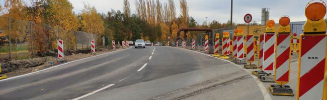 Umgehungsstraße für die abgesackte Emscherallee ist in Betrieb – Bypass über den Parkplatz der Kokerei Hansa