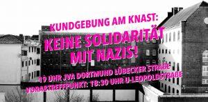 Mit diesem Bild von der JVA Dortmund wirbt die Autonome Antifa 170 für ihre Kundgebung.