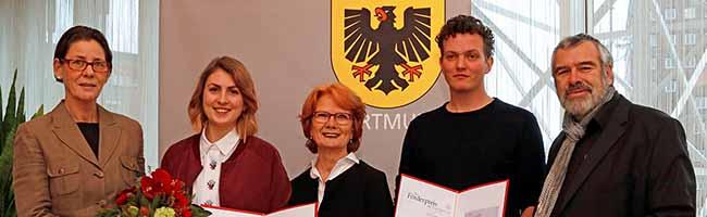 Förderpreis der Stadt ging an Silke Schönfeld und Florian Dedek – Bürgermeisterin Jörder zeichnete junge Künstler aus