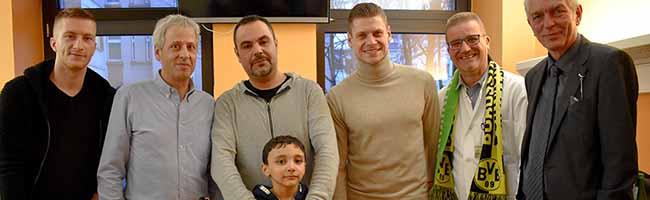 Geschenke vom Tabellenführer: BVB besucht schwerkranke Kinder – Autogrammstunde mit Marco Reus am Mittwoch