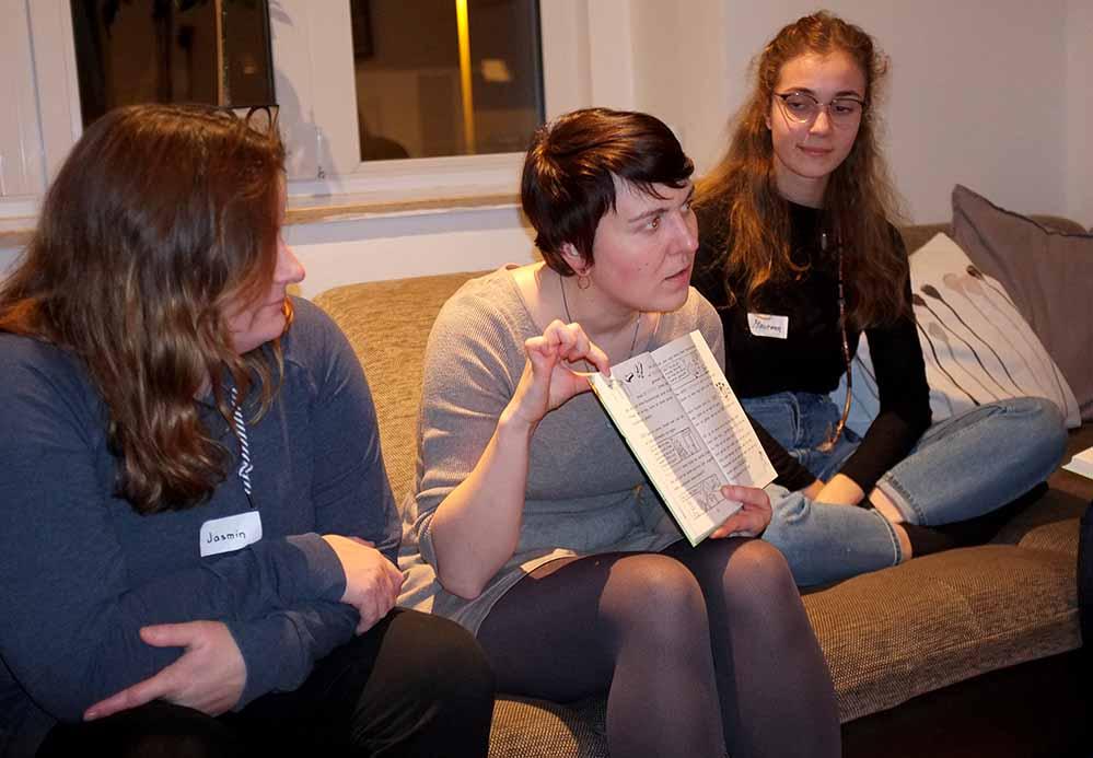 Jasmin Oelmann, Kristina Sobiech und Maureen Schneider (v.l.).