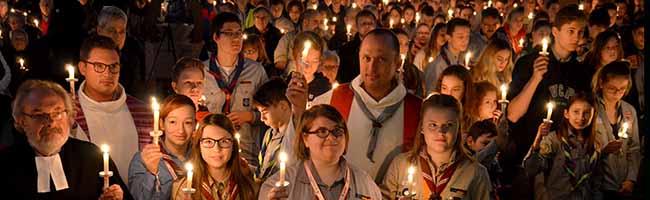 Friedenslicht aus Bethlehem in der Nordstadt: 900 PfadfinderInnen kommen Sonntag zur St. Josephs-Kirche