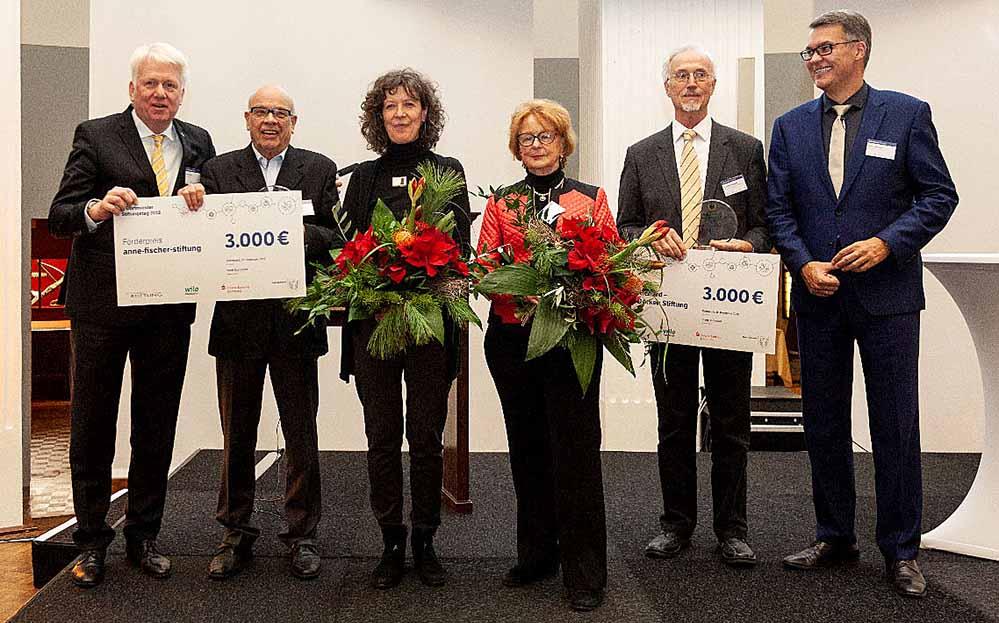 Preisträger des Stiftungstages sind zu gleichen Teilen die Werner-Richard–/ Dr.-Carl-Dörken-Stiftung und die Anne-Fischer-Stiftung für ihre besonderen Verdienste um die Kulturförderung in Dortmund. Die Höhe des Preisgeldes beträgt jeweils 3.000 Euro.Bild: Anneke Dunkhase