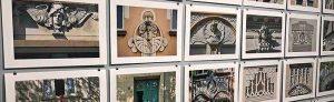 Fotos von noch vorhandenen Jugendstil-Elementen an Dortmunder Hausfassaden.