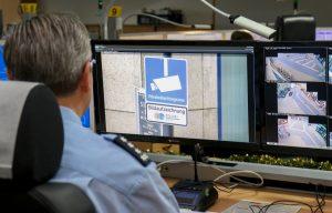 Leitstelle für Videobeobachtung bei der Dortmunder Polizei