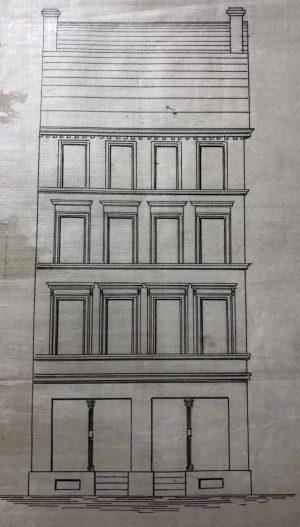 Straßenfront des ursprünglichen Hauses Leopoldstr. 31 (Stadtarchiv)