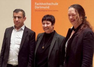 Ahmet Toprak, Seyran Ates und Prof. Dr. Katja Nowacki vor dem Vortrag.