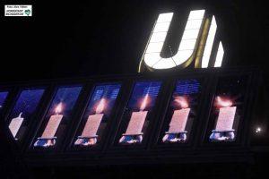 Noch bis Sonntag wird auch auf em Dortmunder U jeden Tag um 17.02 Uhr eine weitere der acht Kerzen entzündet.