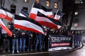 Dortmunder Neonazis, Dezember letzten Jahres, im Gerichtsviertel