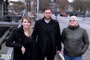 Das Sozialarbeiter-Team rund um den Hörder Bahnhof: Sabine Hoffstiepel, Lena Terstegge und Johann Christian Zenses (v.li.).