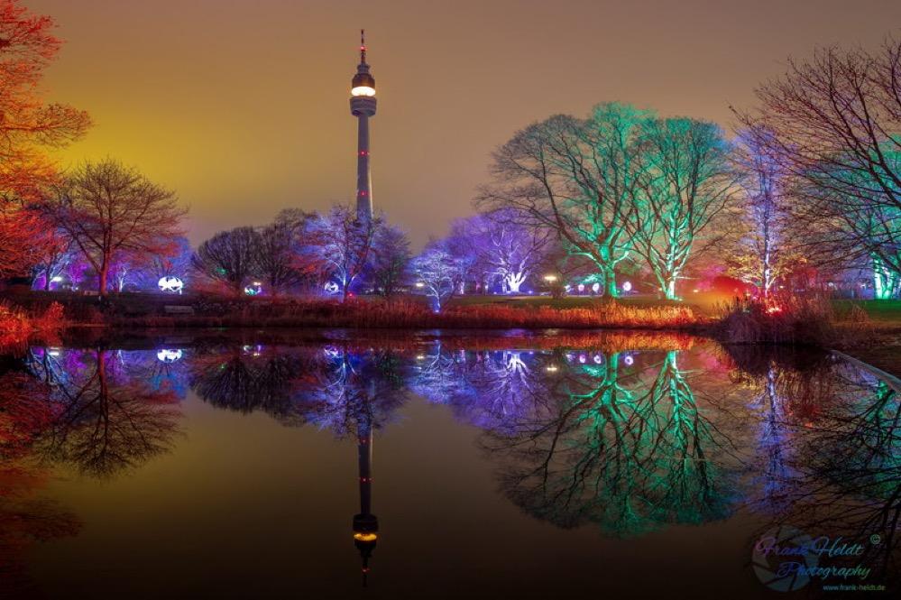 Das Winterleuchten im Westfalenpark Dortmund fasziniert FotografInnen. Fotos: Frank Heldt
