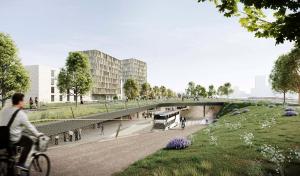 So könnte der Park auf dem Bahndamm aussehen, wenn die Planungen realisierbar scheinen.