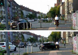 Ein gleichzeitiges Grün für AutofahrerInnen und Radverkehr sorgt immer wieder für Probleme.