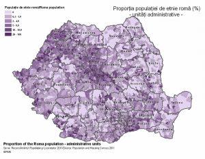 Verteilung von Roma in Rumänien