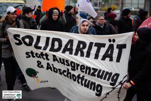 Die Seebrücken-Demonstration auf den Straßen Dortmunds.