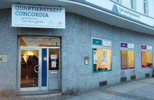 In neuem Gewand: das Concordia-Haus beherbergt jetzt den Quartierstreff