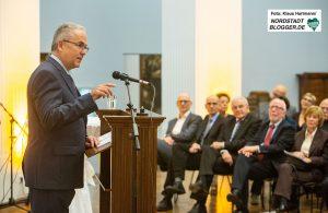 70 Jahre Deutsch-Franzoesische Gesellschaft. Feier im Museum für Kunst- und Kulturgeschichte Dortmund. Klaus Wegener, Präsident der Auslandsgesellschaft