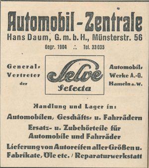 """Werbeeintrag in der Jubiläumsausgabe """"100 Jahre Dortmunder Zeitung"""", 1928"""