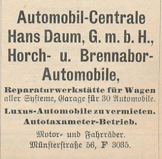 Werbeeintrag im Dortmunder Adressbuch für 1915