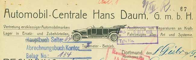 SERIE Nordstadt-Geschichte(n): Auto- und Fahrradhändler Hans Daum mobilisierte ab 1904 Menschen in Dortmund
