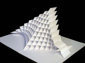 Ein Klappmodell aus Papier von Peter Dahmen. Foto: Ostwall 7 bleibt