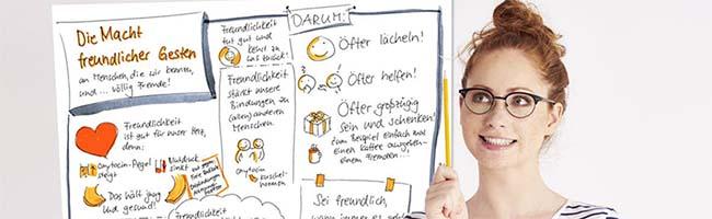 DONNA-Unternehmerinnen-Netzwerk lädt zum Sketchnotes-Workshop: Anmeldungen noch bis zum 31. Januar möglich