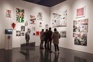 Ein Blick in die Ausstellung am Tag der Eröffnung Foto: Aleksey Kubasov/HMKV