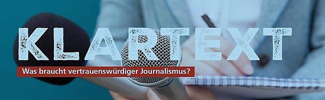 """""""Klartext"""": Journalismus und Vertrauenswürdigkeit – läuft der bundesrepublikanischen Presse die  Öffentlichkeit davon?"""