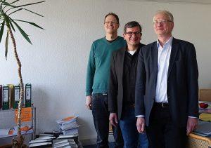 (v.l.:) Dr. Tobias Scholz, Martin Grebe und Rainer Stücker. Foto: Thomas Engel