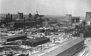 Ansicht des Werksgeländes der I.G. Farben nahe Auschwitz. Foto: Bundesarchiv