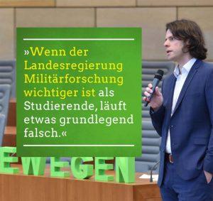 Statement des hochschulpolitischen Sprechers von Bündnis 90/Die Grünen in Dortmund, Matthias Bolte.