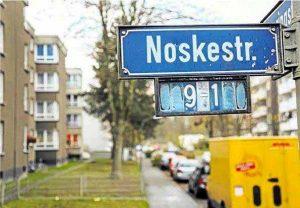 An Gustav Noske erinnert die gleichnamige Straße in Dortmund-Scharnhorst. Sie soll nach Willen der VVN umbenannt werden.