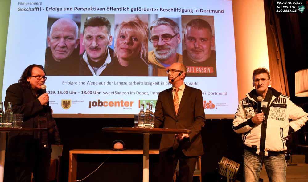 Regisseur Horst Herz, Moderator Kay Bandermann und Protagonist Kalle S. Fotos: Alex Völkel