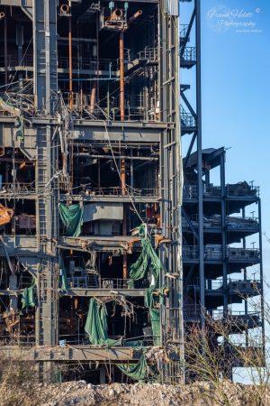 Abrissarbeiten am ehemaligen Kraftwerk Knepper. Foto: Frank Heldt