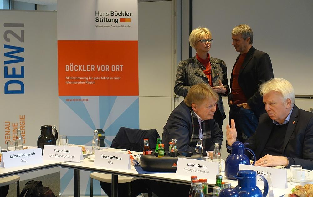 Gespräche über Unternehmensmitbestimmung und mehr. Fotos: Thomas Engel