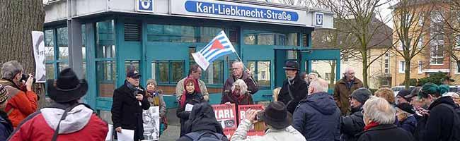 Erinnerung an Rosa Luxemburg und Karl Liebknecht –  Umbenennung der Noskestraße in Scharnhorst gefordert