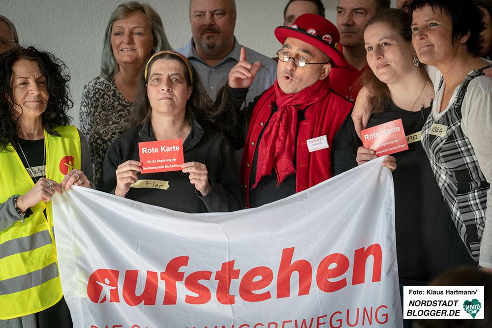 Aktions-Campus der Sammlungsbewegung Aufstehen in Dortmund im Bier-Café am Westpark. Fotos: Klaus Hartmann
