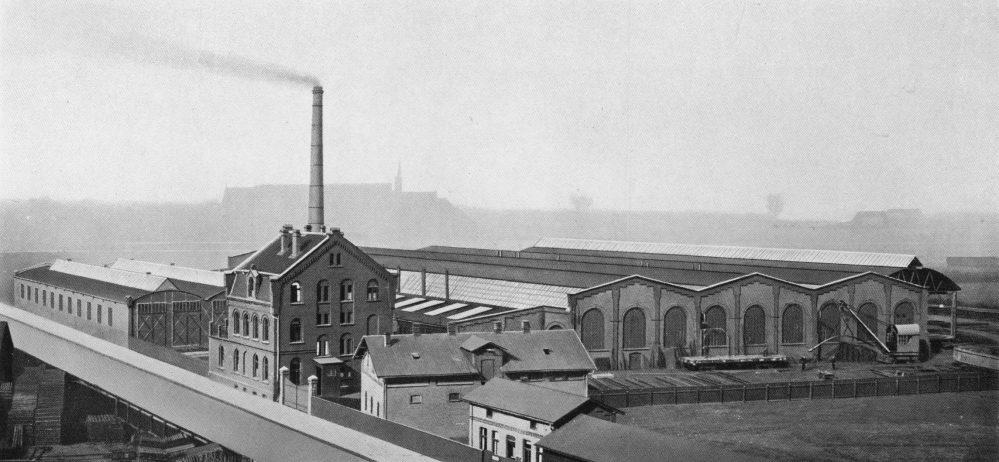 Fabrik der Both & Tilmann G. m. b. H. an der Glückaufstraße (Stadtarchiv Dortmund)