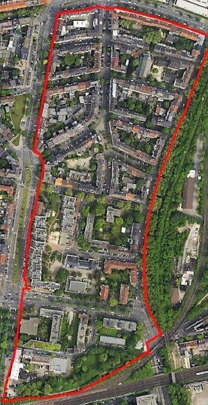 Luftbild des Quartiers. Quelle: Stadt Do