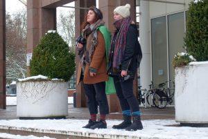 Carmen Körner (l.) ist eine der Organisatorinnen der Proteste
