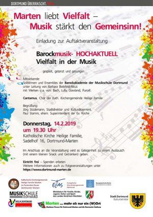 Das Plakat zur Eröffnungsveranstaltung am 14. Februar.