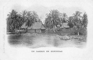 Wohnsituation der Einheimischen und auch zunächst der Dortmunder Einwanderer an der Karibikküste (Ansichtskarte um 1900)