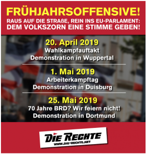 Die Neonazis mobilisieren für den 25. Mai zu einem Aufmarsch in Dortmund.
