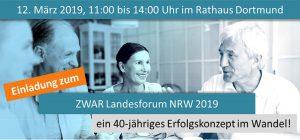 Am 12. März veranstaltet ZWAR ein öffentliches Forum im Dortmunder Rathaus.