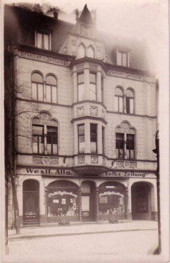 Die Kielstraße, wo die Arbeiter-Zeitung ihren Sitz hatte, war auch Schauplatz der Tumulte vom Mai 1910. (Sammlung Klaus Winter)